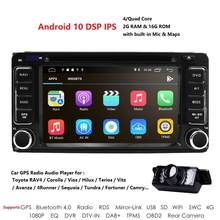 2 din 6,2 zoll Universal Car Multimedia Player Android10 Auto Radio Player Stereo für Toyota RAV4 Corolla CROWN CAMRY RUSH(China)