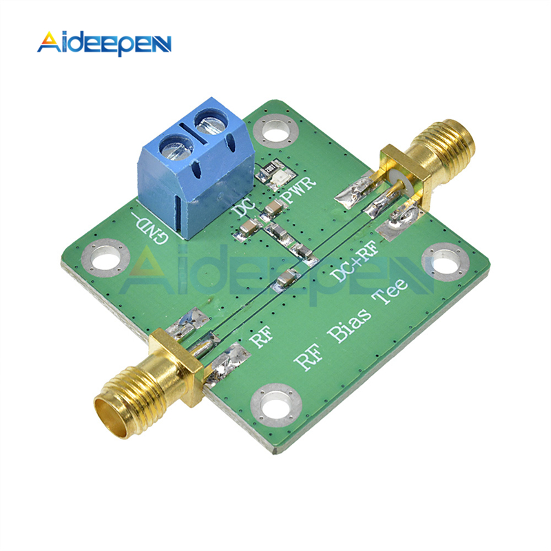 50V 500mA DC Bias Tee Wideband 10-6000 MHz 6GHz RF Microwave DC-blocker Module For HAM Radio RTL SDR LNA Low Noise Amplifier image