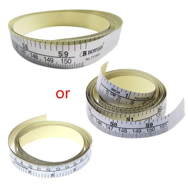 2020 New 151cm Self Adhesive Metric Measure Tape Vinyl Ruler For Sewing Machine Sticker