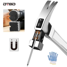 DTBD Heavy Claw Hammer 100Z/130Z Nail Hammer Tool Steel Woodworking Striking Tools Magnetic Automatic Nail Suction Hammer