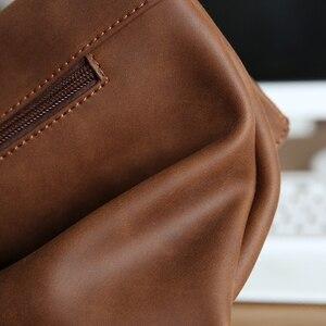 Image 4 - Neue design pu leder männer brust pack Koreanische mode casual braun schulter diagonal tasche flut männlichen Messenger sling Tasche