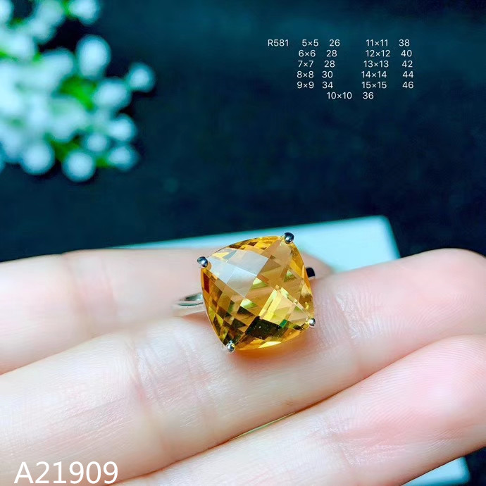 Ring-Support-Detection Fine-Jewelry Citrine 925-Sterling-Silver Natural Luxury Inlaid