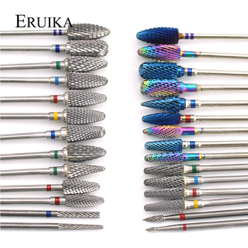 66 Types Tungsten Blue Rainbow Carbide Nail Drill Bit Electric Nail Mills Cutter for Manicure Machine Nail Files Accessories