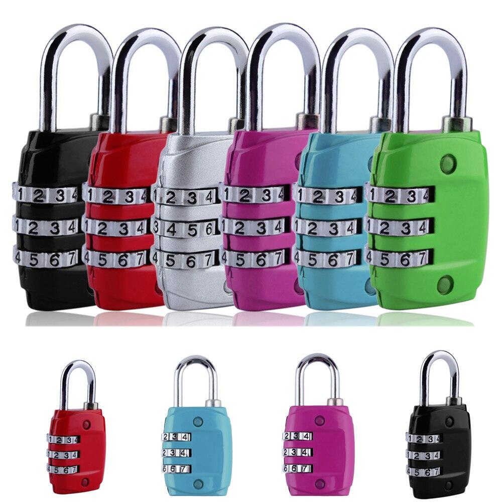 1PCS Zinc Alloy Security 3 Combination Travel Suitcase Luggage Code Lock Padlock Worldwide Store Random Color