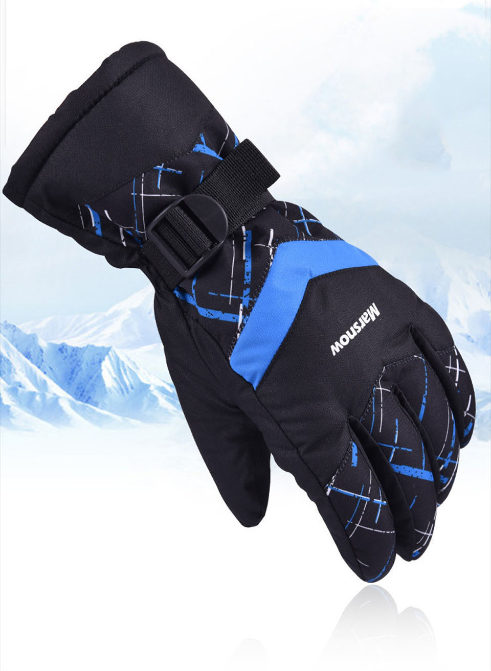 Winter Warm Mountain Snowboard Ski Gloves Men Women Cold Snow Skiing Mittens Waterproof Snowmobile Bike Motorcycle Snow