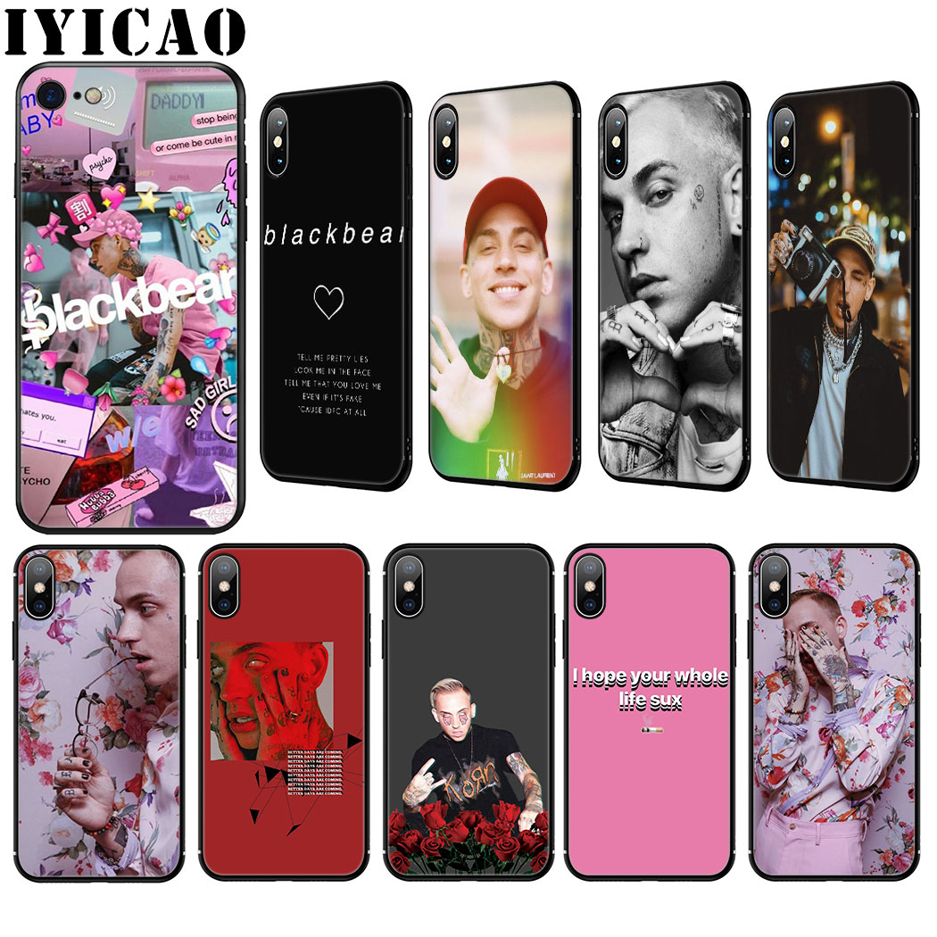 Blackbear Silicone Soft Case For Iphone 11 Pro Max Xr X Xs Max 8 7 6 6s Plus 5 5s Se Cover Fitted Cases Aliexpress