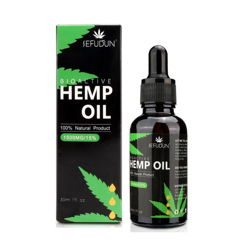 Organic Hemp Seeds Oil 1500MG CBD Premium Plant Herbs Extract for Body Pain Relief Stress Keto Anxiety Relax Help Sleeping image