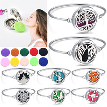 Wholesale New Perfume Bracelet Essential Oil Diffuser Aromatherapy Locket Cat 316L Stainless Steel