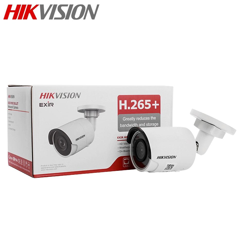 Hikvision 4MP balle caméra IP PoE H.265 + DS-2CD2043G0-I 4 MP Surveillance vidéo IR avec fente pour carte SD IP67 30m IR 2