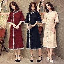 2020 Vestido De Debütantin Cheongsam 2020 Sommer Neue Geändert Und Leinen Robe Junges Mädchen Studenten Nette Kleine Süße Wind Kleidung