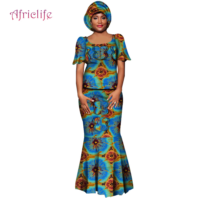 WY6001 2020 Women Clothing Vintage Women Plus Size Dress Africa Clothing Vestidos Casuales Women