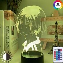Haikyu!! Luz conduzida da noite anime kozume kenma lâmpada para decoração do quarto nightlight crianças presente de aniversário haikyuu kenma luz
