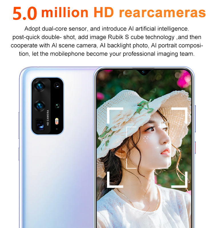 Global Version SOYES P41 Pro Smartphone Deca Core Android 10.0 3000mAh Cellphone 2GB+16GB 6.7inch Waterdrop Screen Mobile Phone 3