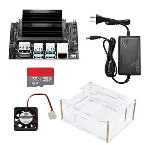 Image 2 - Jetson Nano Developer kit Demo Board AI Development Board Platform A02 Version+ case+fan+32G SD card +DC power adapter+AI camera