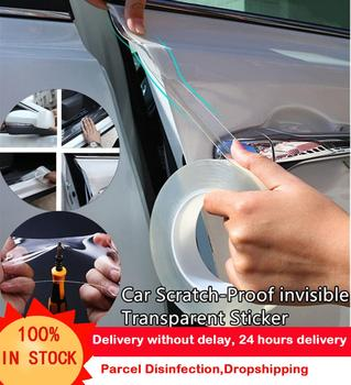 1pcs 200m clear pe protect film tape tablet electronics display windows housing case electrostatic protective film metal 10cmx100cm Door Sill Full Body Transparent Tape Car Tuning Body Bumpers Protect Film Door Edge Protective Anti Scratch Nano Tape