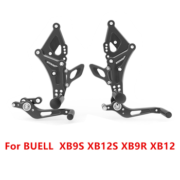For BUELL XB9S XB12S XB9R XB12 CNC Adjustable Rider Rear Sets Motorcycle Rearset Footrest Foot Rest Pegs D40 motorcycle adjustable rider rear set rearsets footrest foot rest pegs for 2018 2019 kawasaki z900rs z900 rs accessories