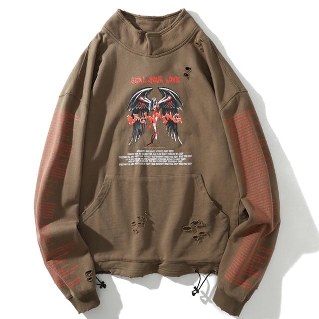 Aelfric Eden Hip Hop Dark Letter Printed Men Sweatshirt 2019 Autumn Harajuku Tops Fashion Streetwear Casual Cotton Male Pullover