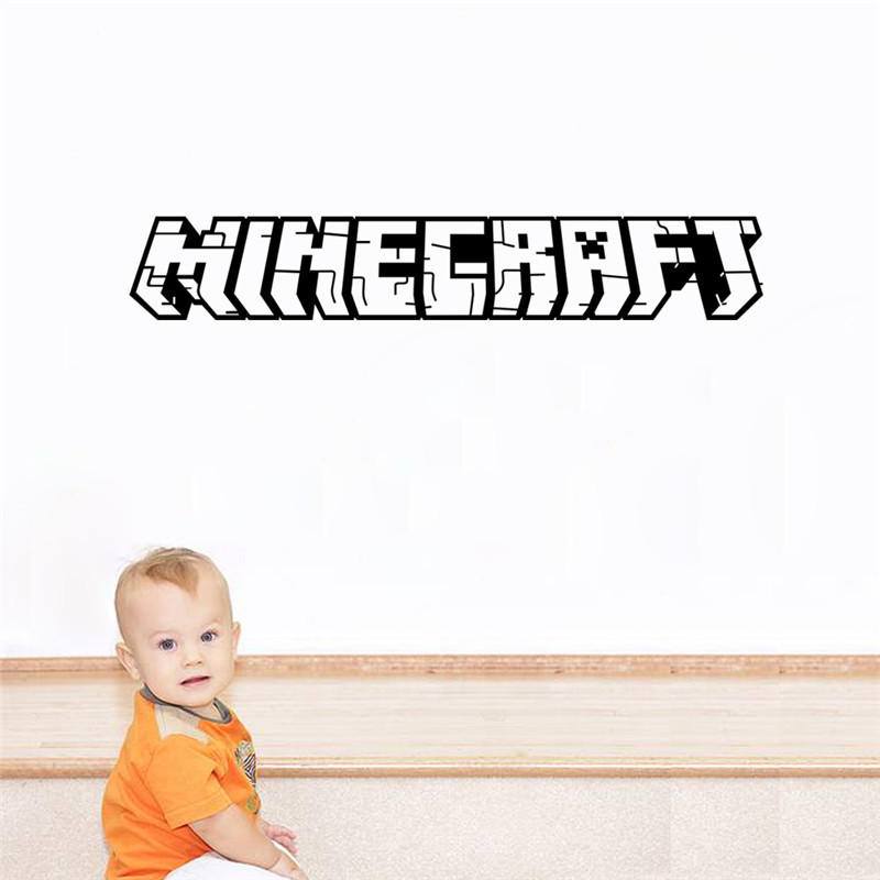 Minecraft Cartoon Game 3D Wall Stickers For Kids Room Murals Home Decor Applique Posters