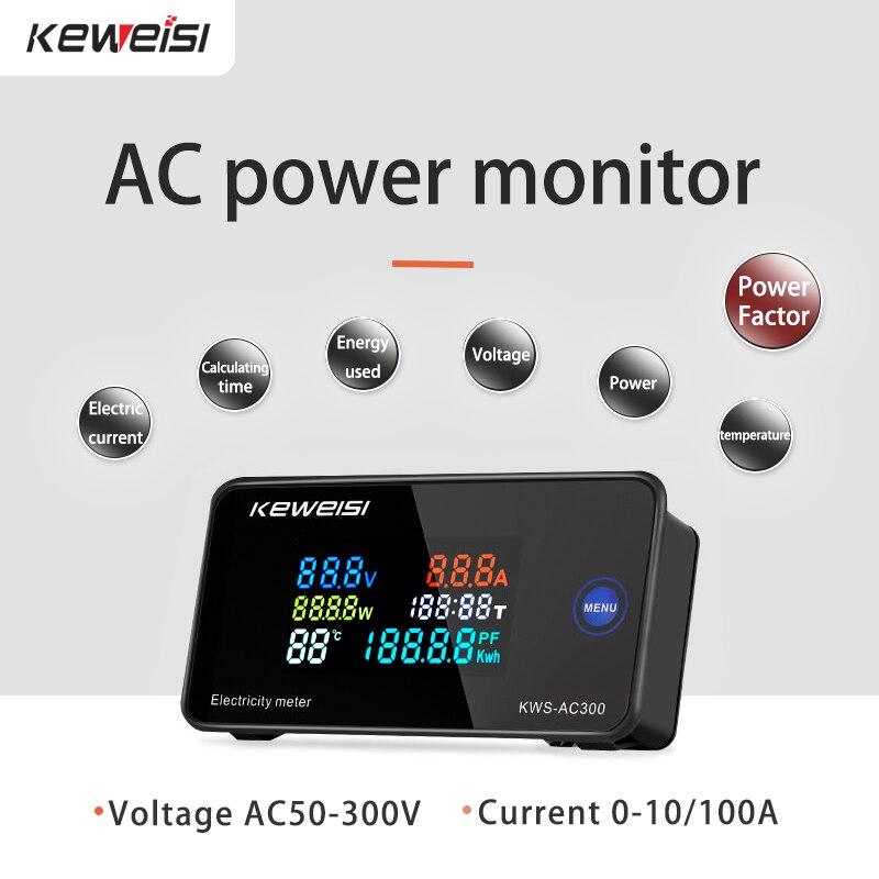 Цифровой вольтметр переменного тока 50-300 В переменного тока 0-100A 45-65 Гц светодиодный дисплей измеритель напряжения тестер детектор