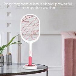 Akumulatorowa lampa led elektryczny odpowiednio zaplanować podróż packa na komary owadów łapka na owady szkodników Anti packa na komary zabójca rakieta 3-warstwa netto bezpieczne