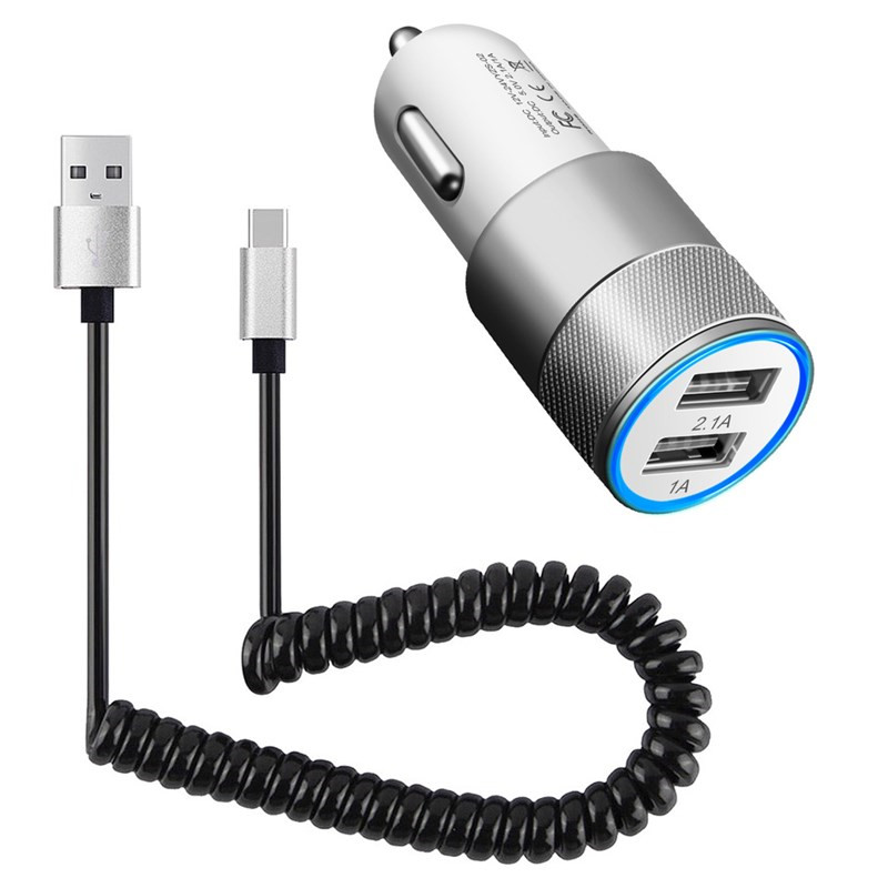 Fast Quick Charge Cable + Car <font><b>Charger</b></font> for Samsung <font><b>Galaxy</b></font> Note 10 Plus S10 5G S10e <font><b>S9</b></font> S8 S7 S6 Edge J2 J4 J6 Core J7 Neo A6 2018 image