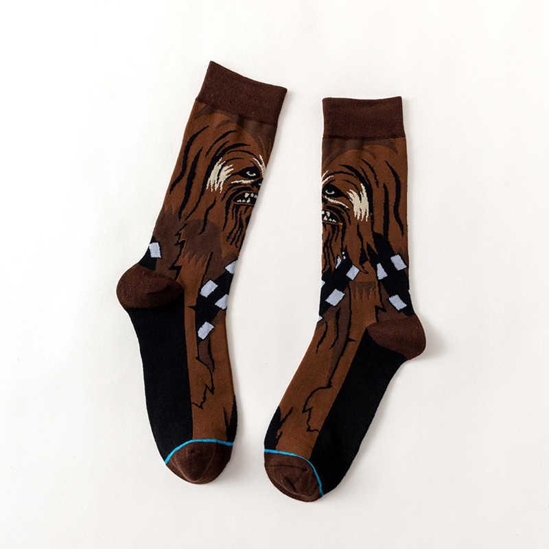 الكون فيلم جوارب فارس الجدة الرجال النساء الجوارب الربيع الخريف الشتاء جوارب بأشكال مضحكة للجنسين العصرية منتصف الجوارب