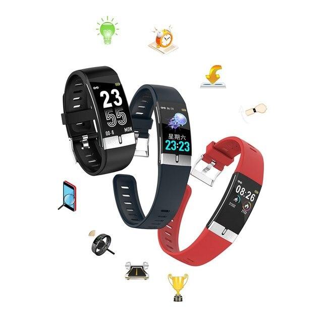 Фото e66 с цветным смарт экраном браслет экг + ppg тест браслет мониторинг