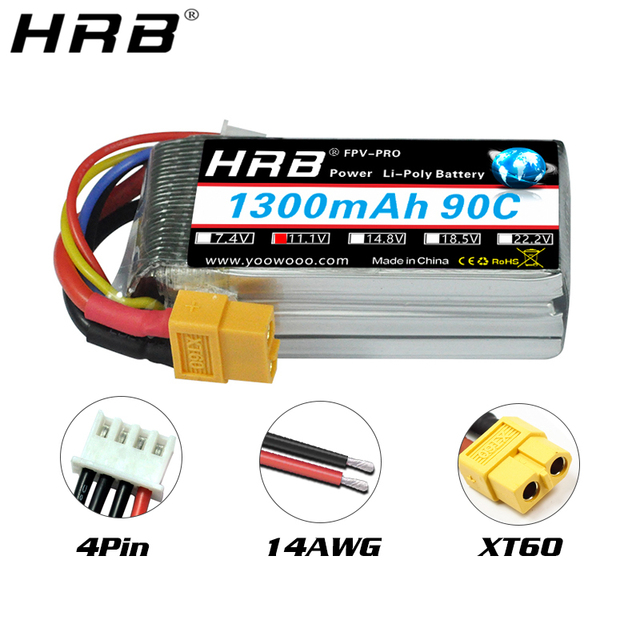 2pcs hrb lipo battery 3s 11.1v 130