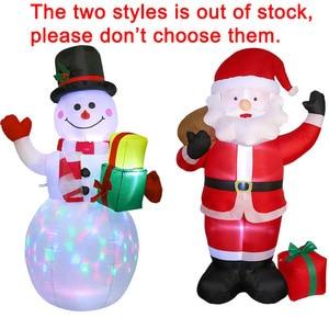 Image 5 - OurWarm 150cm ענק מתנפחים סנטה קלאוס חג המולד 2018 Airblown מתנפח פסל חיצוני חצר גן חדש שנה קישוט