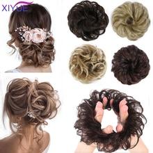 Chignon Bun Hair Hair-Scrunchies Messy Bun Fake-Hair Synthetic-Extensions Donut Updo