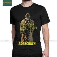 Rorschach-Camiseta de algodón para hombre, camiseta de manga corta con la cara sonriente del dr. Manhattan, Alan, Morris, Emo, Nihilist Heroes
