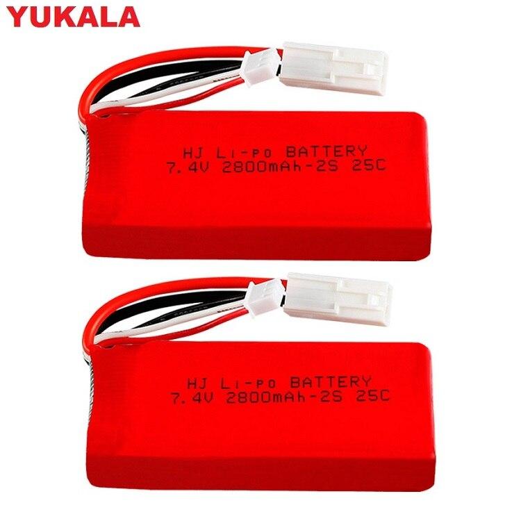 YUKALA FT009 955 948 2.4G RC Racing Boat 7.4V 1500MAH/2800Mah Li-polymer Battery 7.4 V 2800 Mah