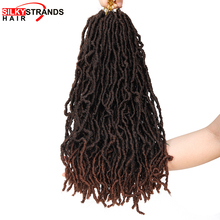 18 Inch Curly Nu Locs Crochet Hair Braids Synthetic Ombre Br
