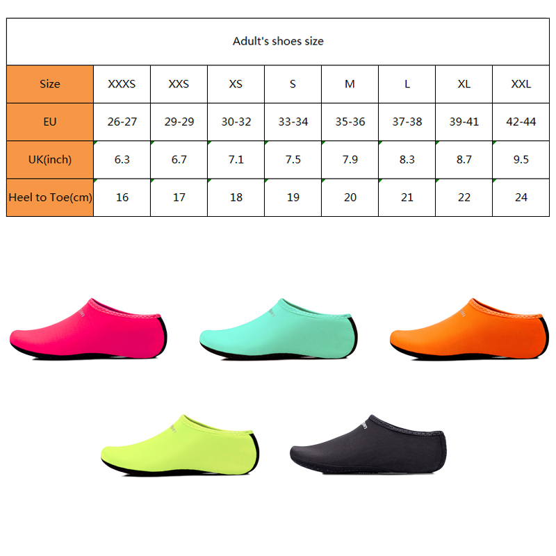 Waterproof Beach Shoes Neoprene Water Socks Non-slip Aqua Swimming Shoes Men Women Sneaker Diving Beach Surfing Barefoot 5