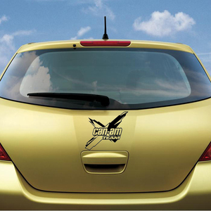 Image 2 - 18*16.1cm Can am team car sticker nuovo stile Hot Body accessori per auto grafica Cool adesivo in vinile Car Decor