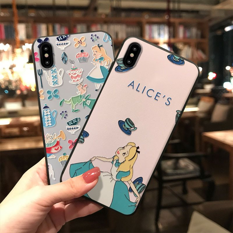 3D Relief Cute Cartoon Lovely Princess Silicon Case For Samsung Galaxy Note 8 N9500 Note9 C9 Pro