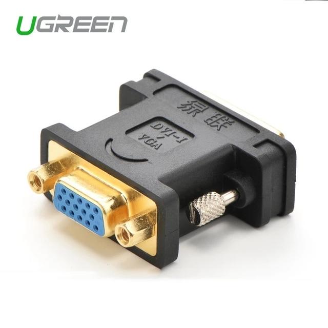 Ugreen 1080P DVI 24 + 5 Male naar VGA Female Converter DVI i naar VGA adapter vergulde DVI converter voor Computer PC Host Laptop