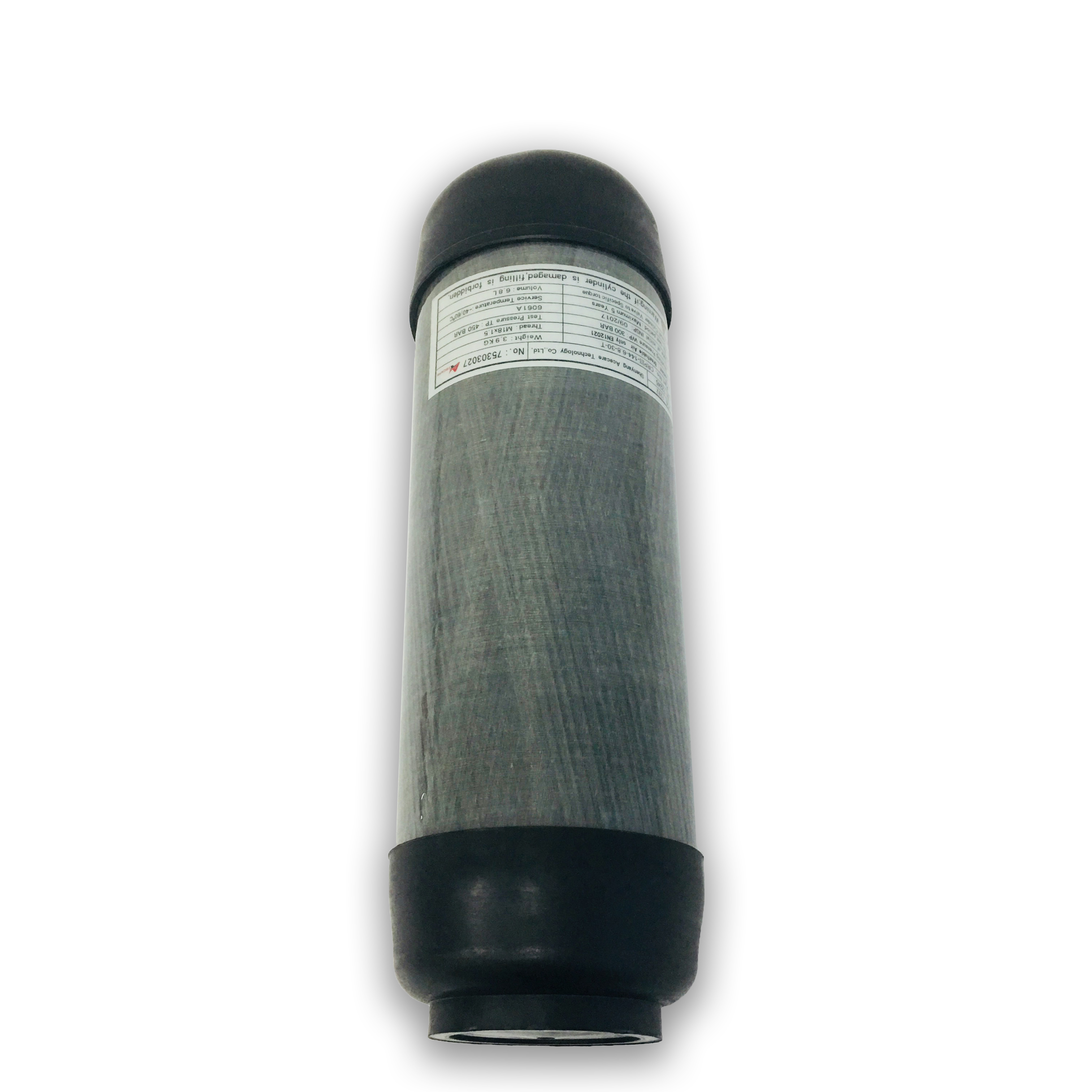AC16891 Acecare 6.8L CE Carbon Fiber Cylinder PCP Paintball HPA Compressed Air Tank For Diving/Shooting With Protective Boots