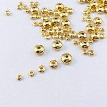 Мелкий Медный позолоченный тост небольшой круглый разделитель DIY Браслеты ожерелье материал для серег аксессуары свободные БИСЕРНЫЕ НИТИ