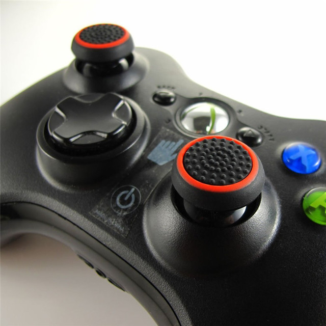 2PCS Silicone Thumb Stick Grip Caps Protective Cover Gamepad Keycap For PS4 Game Controllers Button Protector 3