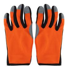 1 пара сенсорных пальцев безопасности дышащие уплотненные садовые перчатки предохранительные перчатки для садоводства