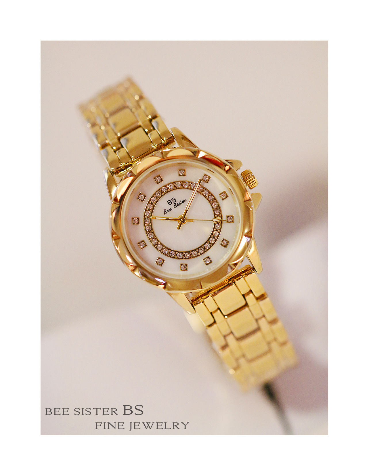 Senhoras high-end simples pulseira relógio de moda