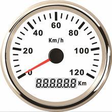 85 мм gps скорость mileometer тюнинг 0-120 км/ч водонепроницаемые датчики скорости 9-32 в указатель тип диаграммы скорости с подсветкой белый