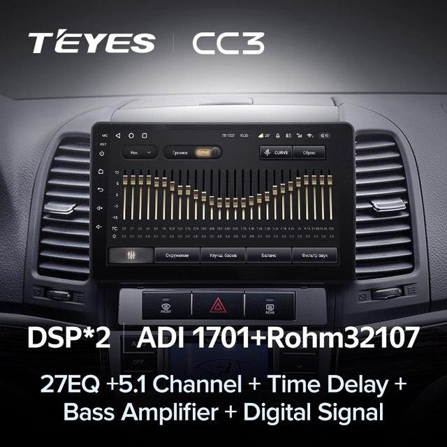 TEYES CC3 Штатная магнитола For Хендай Санта Фе 2 For Hyundai Santa Fe 2 2006 - 2012 до 8-ЯДЕР, до 6 + 128ГБ 27EQ + DSP carplay автомагнитола 2 DIN DVD GPS android 10 мультимедиа автомобиля головное устройство 4