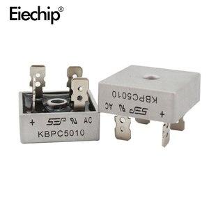 Image 1 - 2 шт. KBPC5010 диодный мостовой выпрямитель диод 50A 1000V kpr 5010 силовой выпрямительный диод electronica componentes