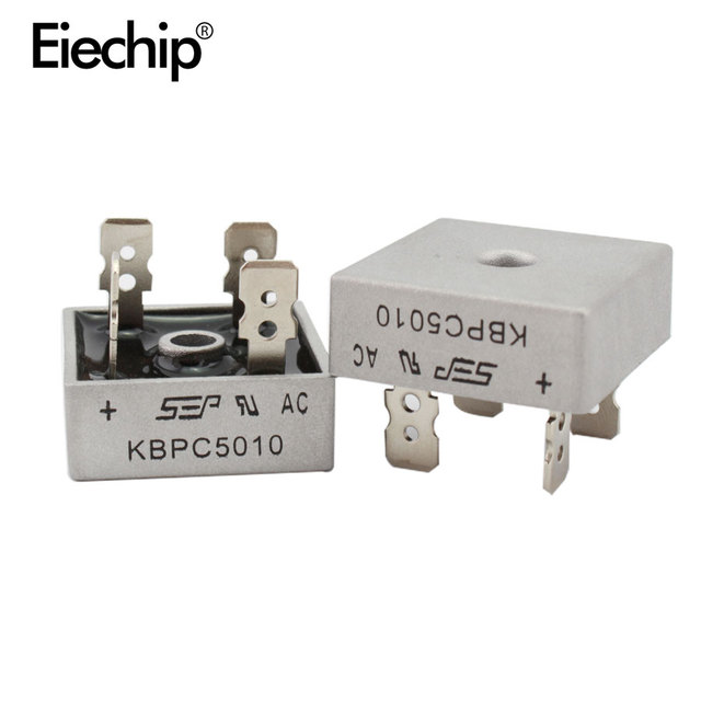 2 шт. KBPC5010 диодный мостовой выпрямитель диод 50A 1000V kpr 5010 силовой выпрямительный диод electronica componentes