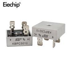 2 adet KBPC5010 diyot köprüsü doğrultucu diyot 50A 1000V KBPC 5010 güç doğrultucu diyot electronica bileşenleri