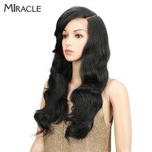 """Чудо 2"""" Длинные свободные волны ровные Омбре Glueless термостойкий парик 180% высокой плотности синтетические парики для черных женщин"""