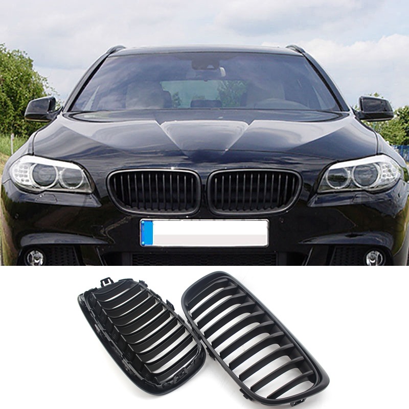 For BMW 2 Series F45 F46 Front Kidney Grille 220i 228i Shiny Black 2014 2018|Racing Grills| |  - title=