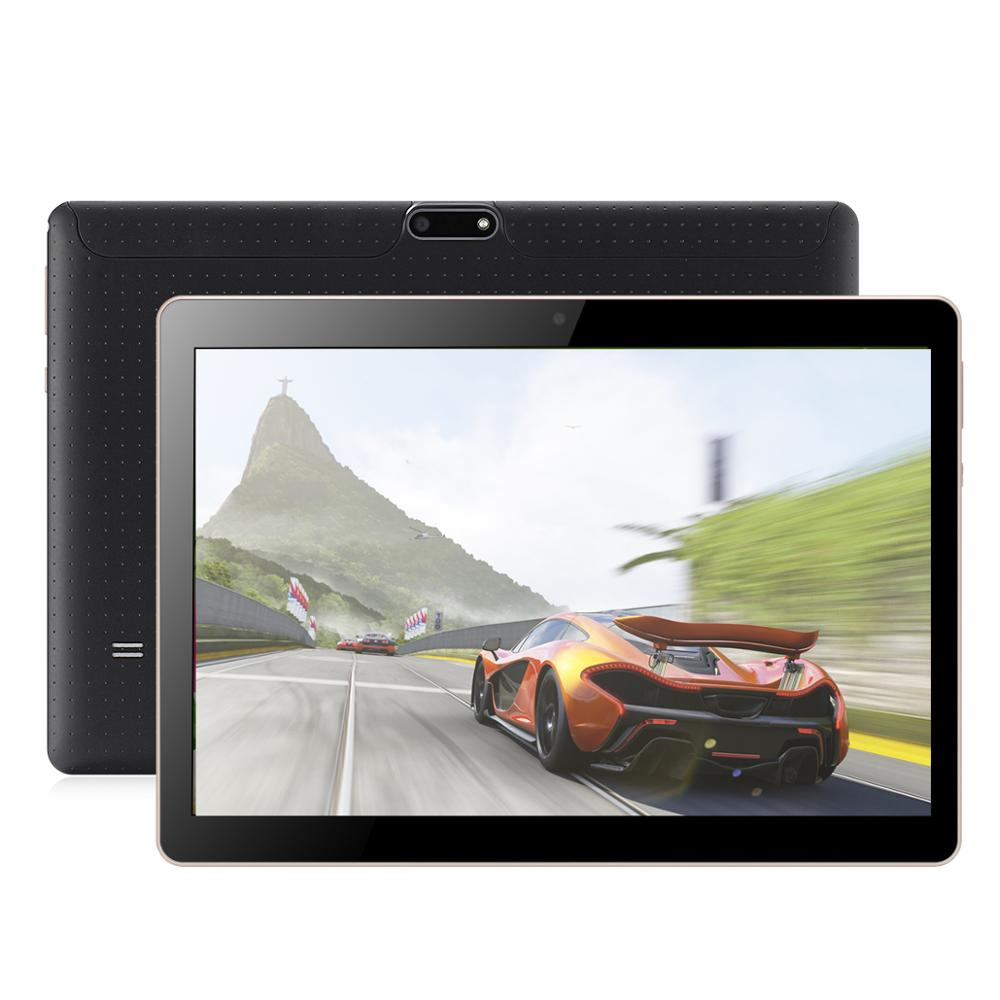 10 Inch Tablet Android 7.0 Quad Core 4GB RAM 64GB ROM 1280*800 IPS Screen Tablets 10.1 3G Phone Call Wifi GPS Bluetooth Video